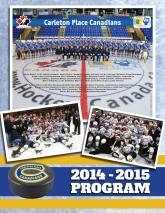 Junior A hockey team season program cover