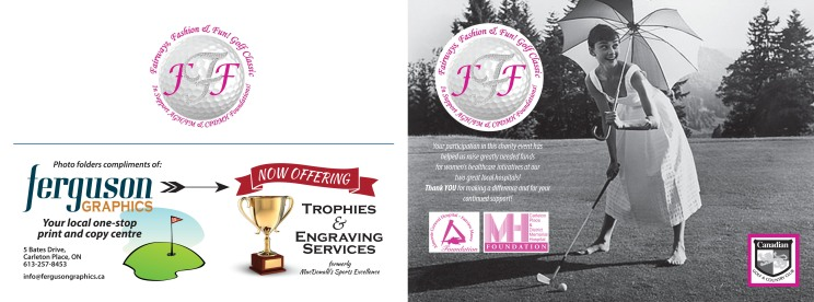 Golf tournament photo card cover