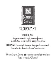 All-natural deodorant label (designed logo & label layout)