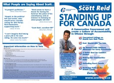 Election campaign broadsheet (front & back covers)